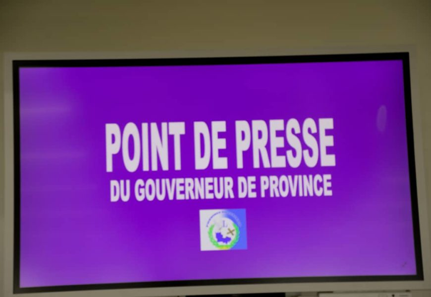 LUALABA: POINT DE PRESSE DE S.E RICHARD MUYEJ DU 23 MARS 2020
